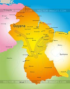 Guyana - Vektorgrafik-Design