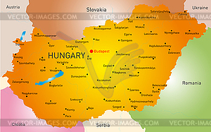 Ungarn - Stock-Clipart