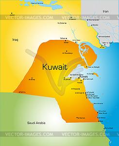 Kuwait - Vector Clip Art