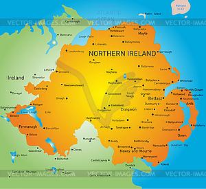 Nordirland - Vektor-Skizze