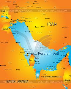 Persischen Golf - Stock Vektorgrafik