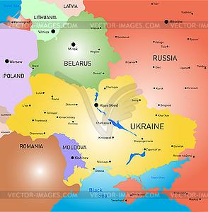 Weißrussland und der Ukraine Land - Royalty-Free Clipart