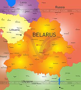 Weißrussland - Stock Vektor-Bild
