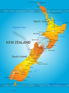 Neuseeland - Vektorgrafik