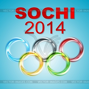 Olympischen Spiele in Sotschi 2014 - Stock Vektor-Bild