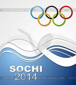 Olympischen Spiele in Sotschi 2014 - vektorisiertes Bild