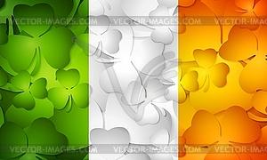 Irische Flagge der Kleeblätter gemacht - Vector-Clipart / Vektor-Bild