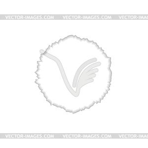 Abstrakt Runde zackigen Rand - Vektor-Design