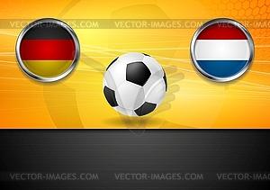 Finale Fußball. Deutschland und Niederlande in Brasilien - Vector-Clipart / Vektor-Bild