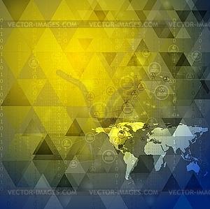 Bright-Technologie Hintergrund - Vektor-Clipart EPS