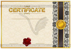 Elegante Vorlage des Zertifikats-, Diplom- - Vektor-Design