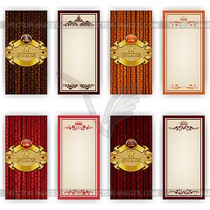 Elegante Vorlage für vip Luxus Einladung - Clipart-Design