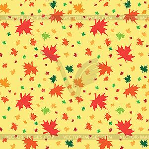 Nahtlose Muster mit Herbstlaub - Stock Vektor-Bild