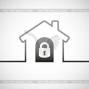 Haus Schloss-Symbol - Vector-Bild