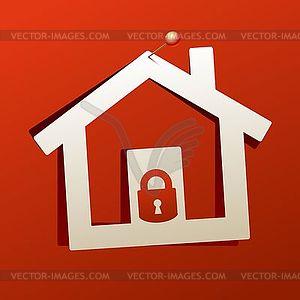 Haus Schloss-Symbol - Vektorgrafik