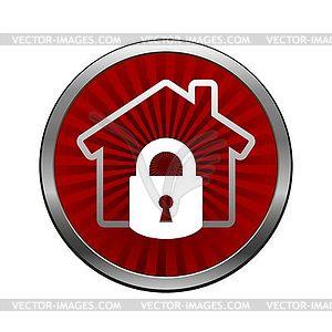 Haus Schloss-Symbol - Vector-Clipart / Vektorgrafik