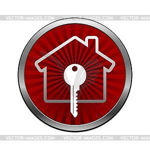 Haus Schloss-Symbol - Vektor Clip Art