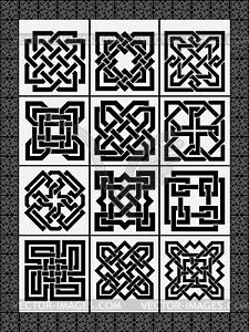Stellen traditionellen keltischen Zeichen - Stock Vektorgrafik