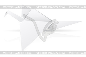 Origami-Papier Storch - Vector-Clipart EPS