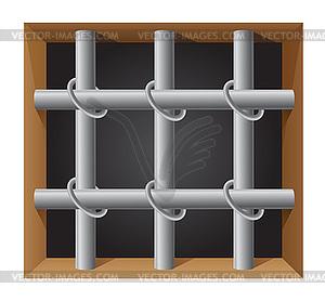 Gefängnis bar - Vector-Bild