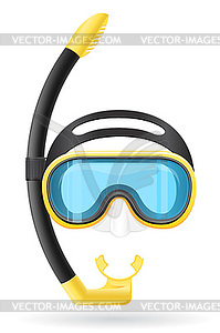 Maske und Schlauch zum Tauchen - Vector-Clipart / Vektor-Bild