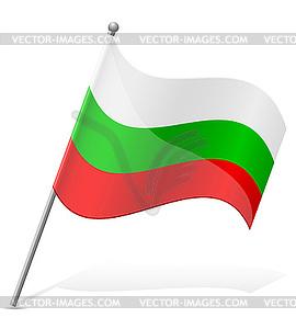 Flagge Bulgariens - Royalty-Free Vektor-Clipart