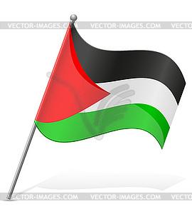 Flagge von Palästina - Vektor-Bild