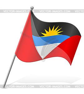 Flagge von Antigua und Barbuda - Vector-Clipart / Vektor-Bild