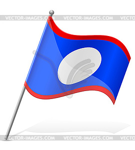 Flagge von Belize - farbige Vektorgrafik