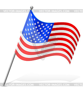 Flagge Vereinigte Staaten von Amerika - vektorisiertes Design