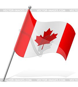 Flagge von Kanada - vektorisierte Grafik