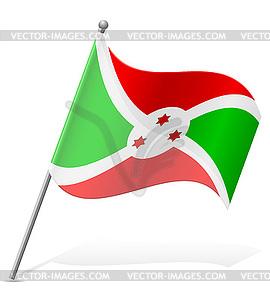 Flagge von Burundi - Clipart-Bild