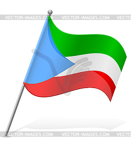 Flagge von Äquatorialguinea - Vektorgrafik-Design