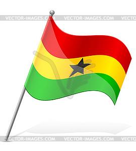 Flagge von Ghana - vektorisiertes Design