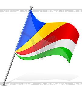 Flagge der Seychellen - Vektorabbildung