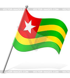 Flagge von Togo - Vektor-Skizze