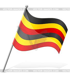 Flagge von Uganda - Stock Vektorgrafik