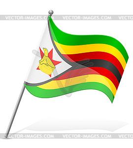 Flagge von Simbabwe - Vektor-Design