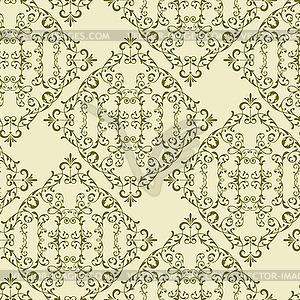 Jahrgang nahtlose Blumenmuster - vektorisiertes Clip-Art