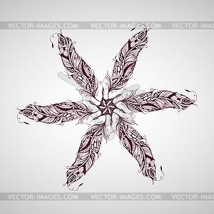 Feather Zusammensetzung - Vektor-Abbildung