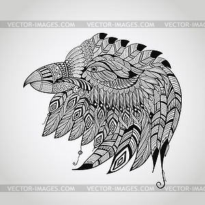 Tattoo Eagle Kopf - Stock-Clipart
