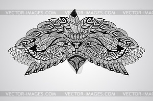 Tattoo Eagle Kopf - Clipart
