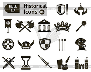 Histoical Symbole - Vector-Clipart EPS