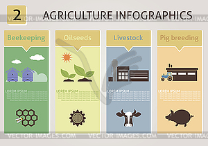 Landwirtschaft Infografiken - Vektor-Clipart / Vektor-Bild