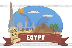 Ägypten. Tourismus und Reisen - Vector-Illustration