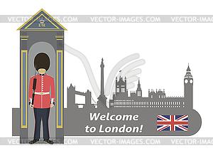 Britischer Wach - Vector-Clipart EPS