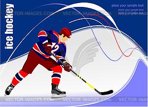 Eishockey-Spieler - Vektor-Clipart / Vektorgrafik
