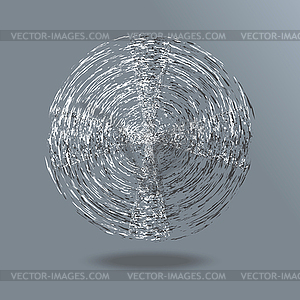 Abstrakte Form Grunge Ball Background - Vector-Clipart / Vektor-Bild
