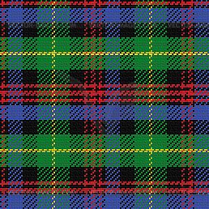 Nahtlose Muster schottischen Tartan Black Watch - Vektorgrafik