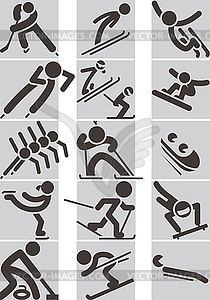 Wintersport-Icons - Vektor-Clipart EPS